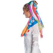 Kit de pintura Tie Dye com uma echarpe de 140X35cm