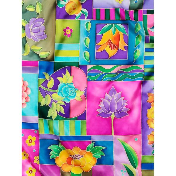 Lenço Guttado 90x90cm - Flower Patches