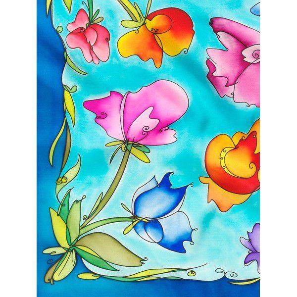 Lenço Guttado 55x55cm - Flower Sketch