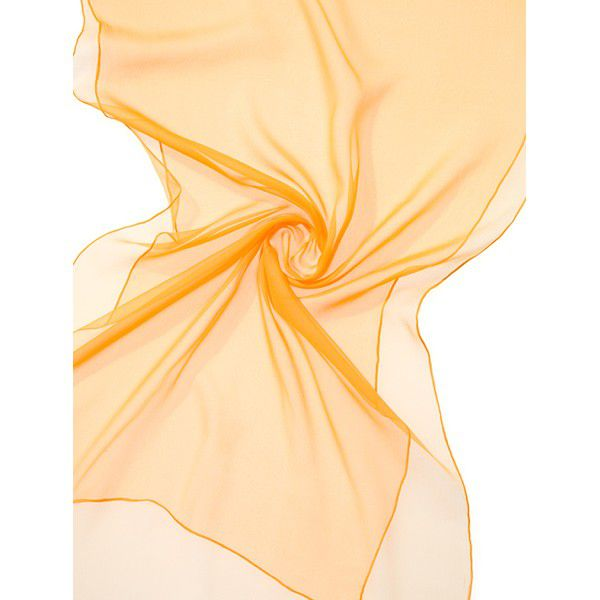 Echarpe Chiffon Colorida 180x55cm - Indian Yellow