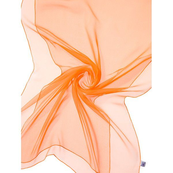 Echarpe Chiffon Colorida 180x55cm - Tangerine