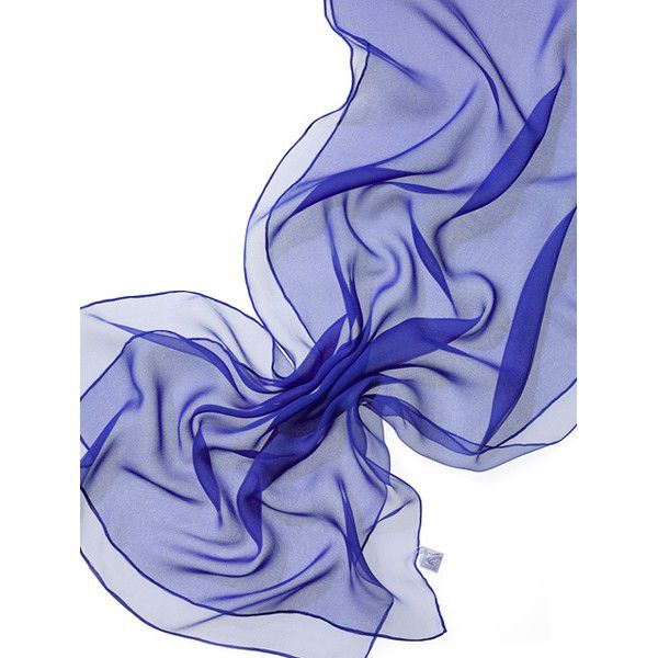 Echarpe Chiffon Colorida 180x55cm - Royal