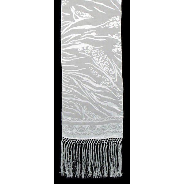 Echarpe Cetim Devorê com franja 150x35 - Underwater