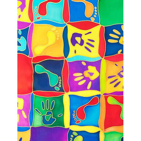 Lenço Guttado 55x55cm - Hands & Feet