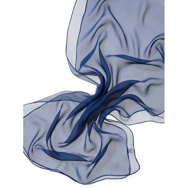 Echarpe Chiffon Colorida 180x55cm - Dark Blue