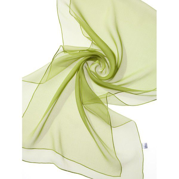 Echarpe Chiffon Colorida 180x55cm - Lime