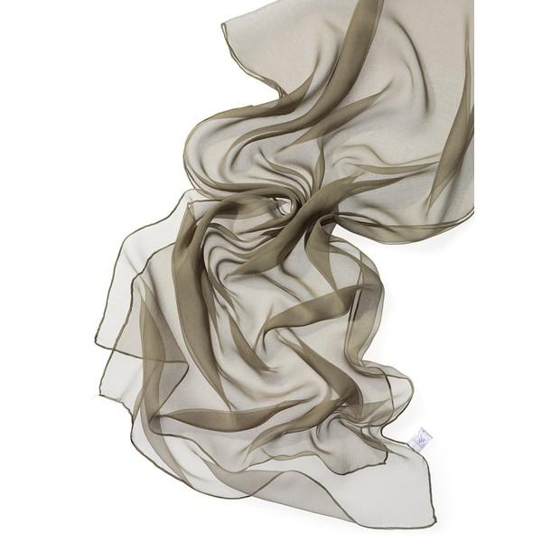 Echarpe Chiffon Colorida 180x55cm - Khaki