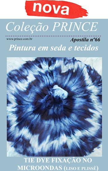 Kit de pintura Tie Dye com um lenço de 50X50cm