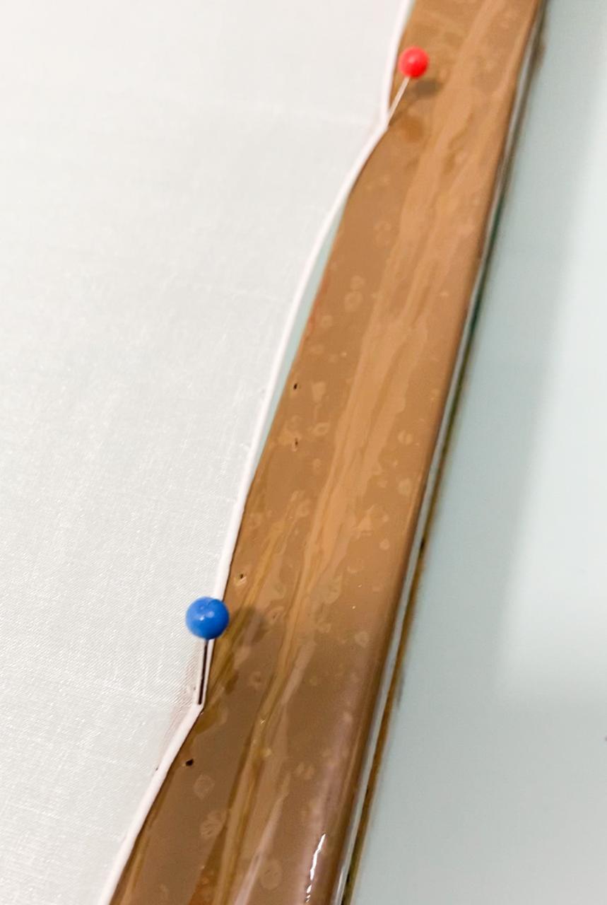 Pins (alfinetes para prender a seda) caixa com 100 unidades