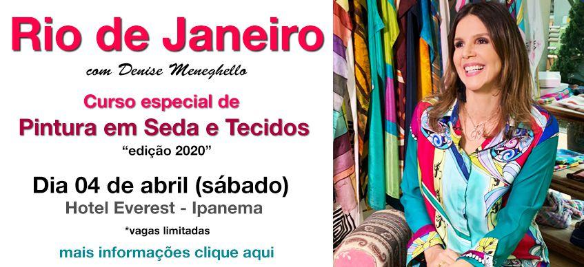 RIO DE JANEIRO 2020 - CURSO COM DENISE MENEGHELLO