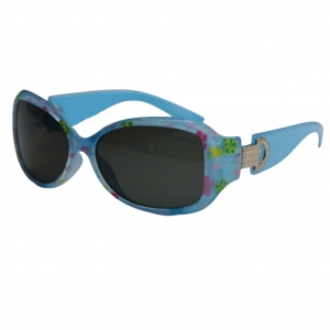 Óculos de Sol Khatto Kids Retrô Blue Flowers - C079