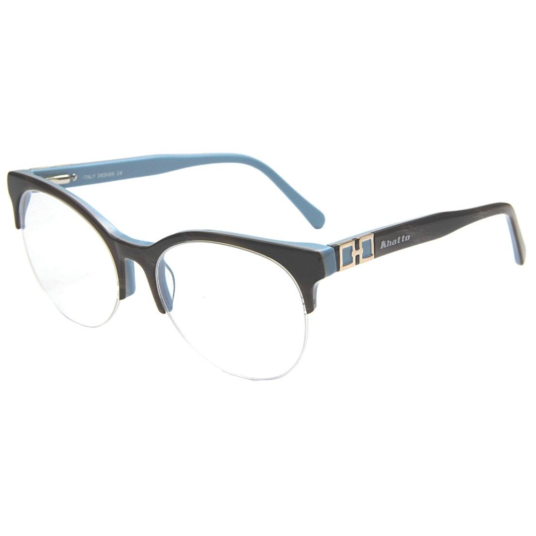 Armação de Óculos Khatto Chic Chic Club Round Italiano - C039