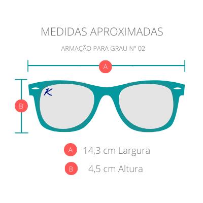 Armação para Óculos de Grau Khatto Shape Purple Green - PU