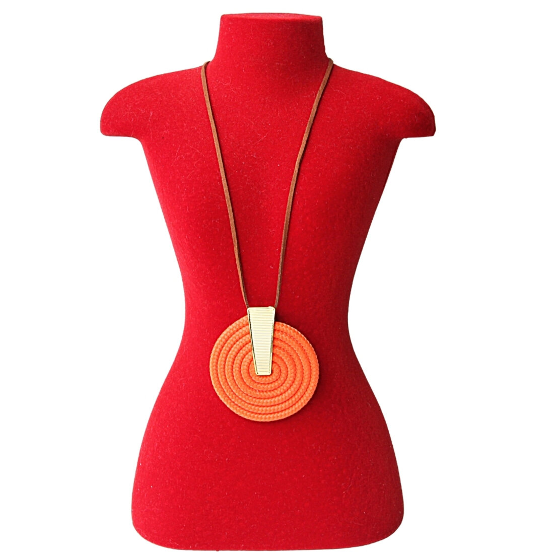 Colar Khatto Round Orange Feminino