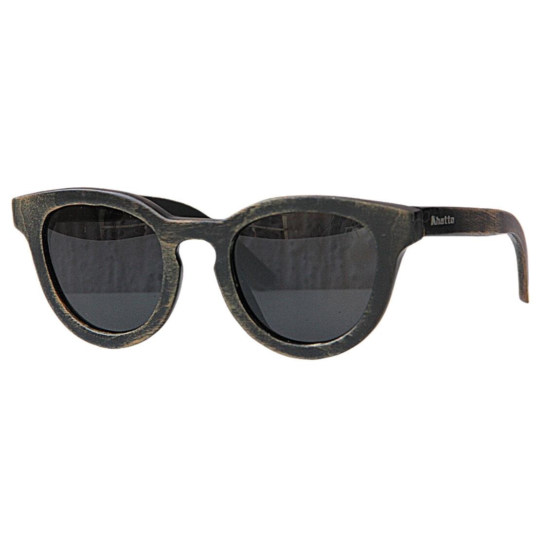 Óculos de Sol Khatto Madeira Round Retrô - C008