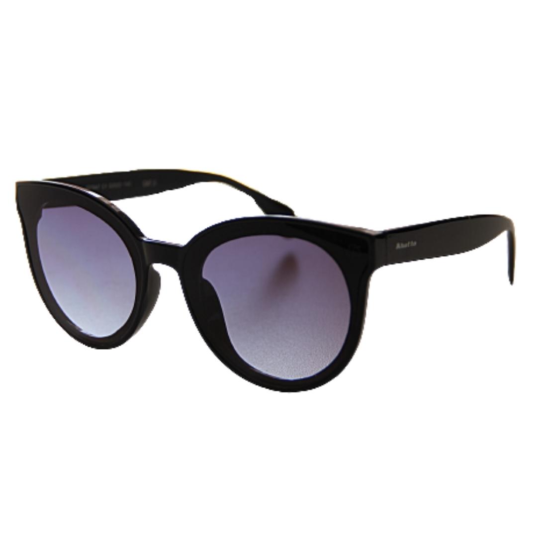 Óculos de Sol Khatto Round Black Italiano - PU
