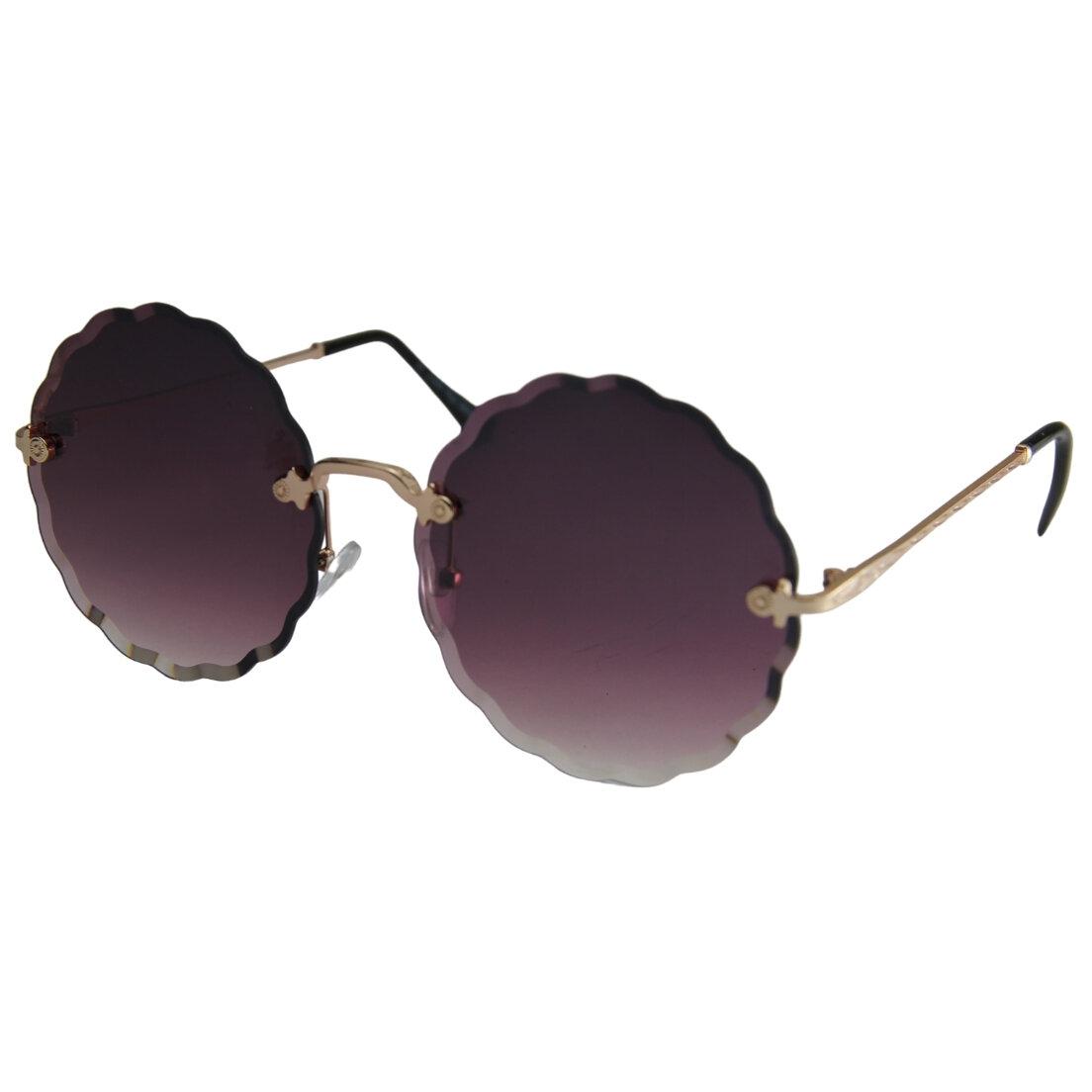 Óculos de Sol Khatto Round Retrô Cristal - PU