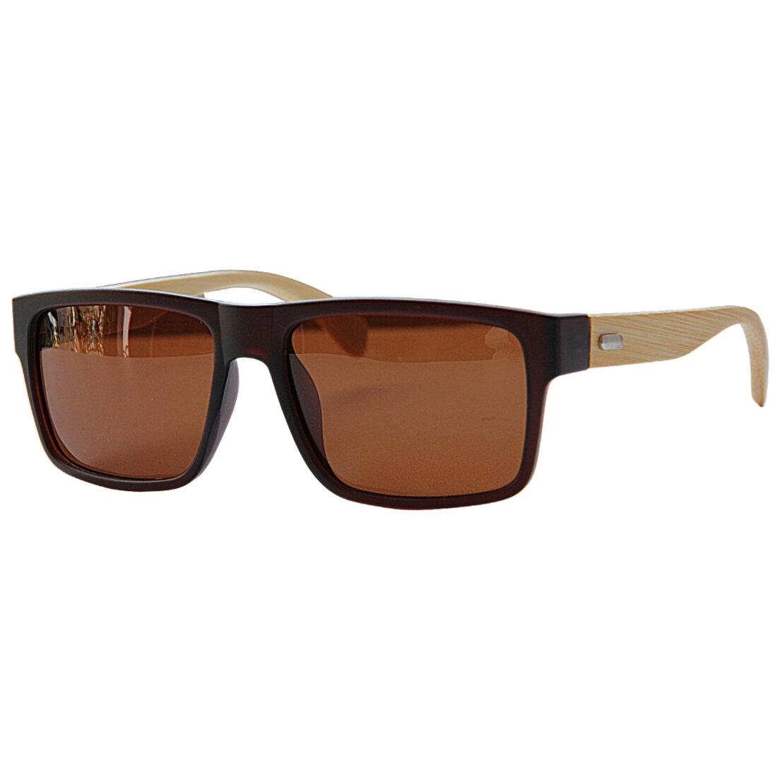 Óculos de Sol Khatto Square Bambu Polarizado - C097