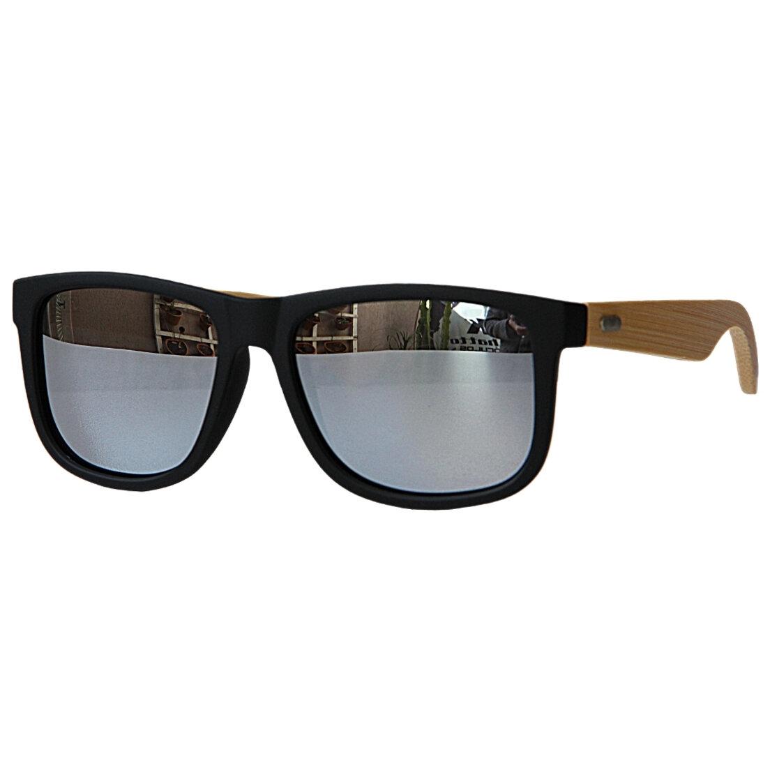 Óculos de Sol Khatto Square Bambu Wave Polarizado - C078