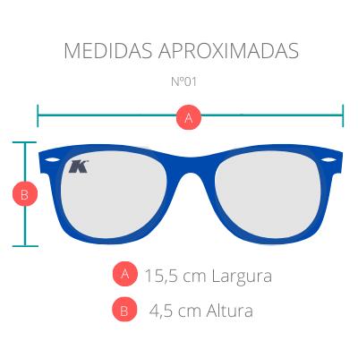 Óculos de Sol Khatto Square Geo Humble Italiano - C134