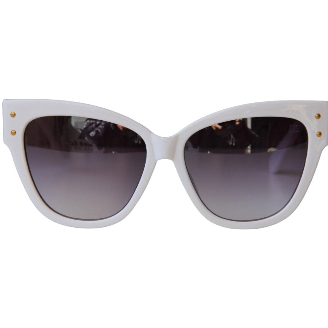 OUTLET -  Óculos de Sol Khatto Cat Hanna Italiano - Branco