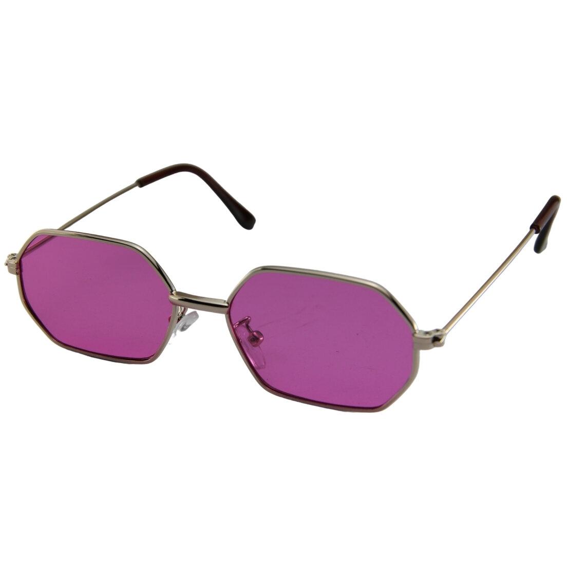 OUTLET -Óculos de Sol Khatto Retrô Hexagonal - Rosa