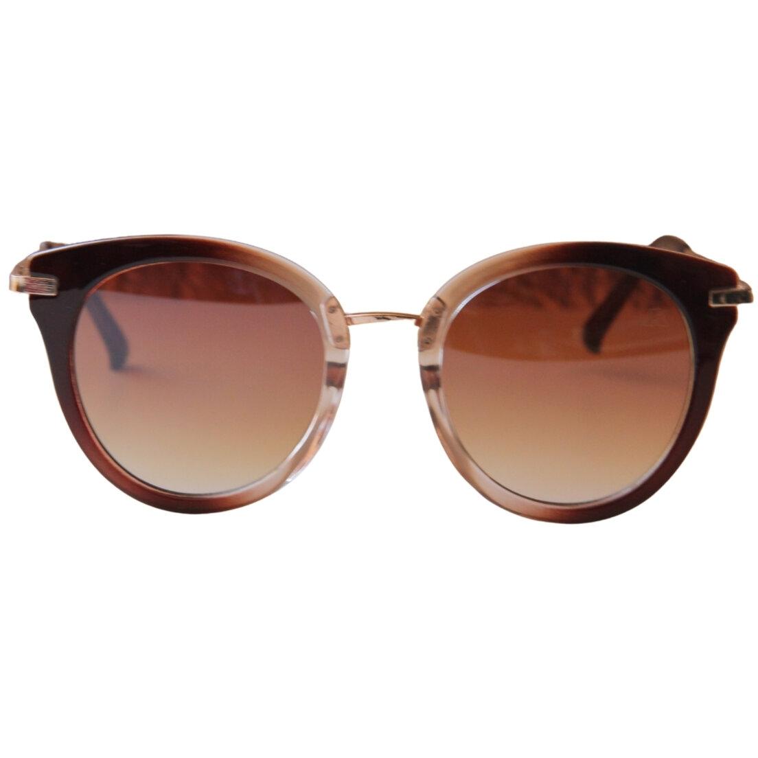 OUTLET - Óculos de Sol Khatto Round Cat -Marrom