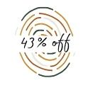 43% Off