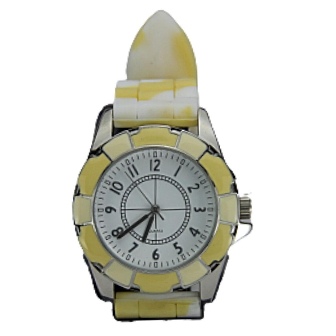Relógio Khatto Party Feminino - Amarelo/Prata