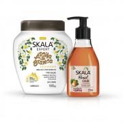 Creme de tratamento Argila Branca + Sabonete Líquido Cajú