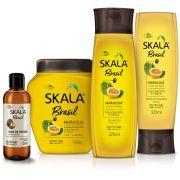 Kit Shampoo, Creme, Condicionador e Óleo - Linha Maracujá e Óleo de Patauá
