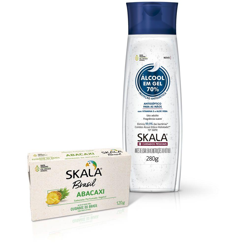 Álcool em Gel 70% + Sabonete em Barra Abacaxi
