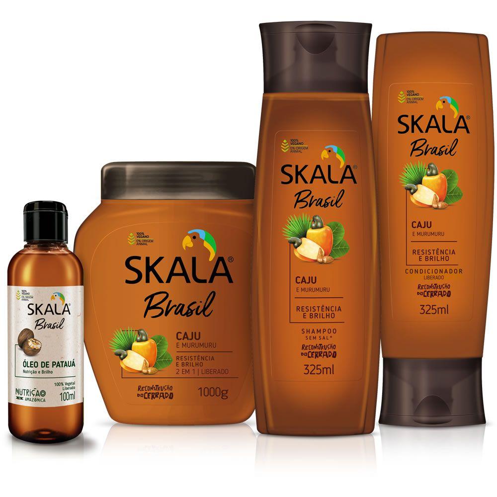 Kit Shampoo, Creme, Condicionador e Óleo - Linha Caju e Murumuru