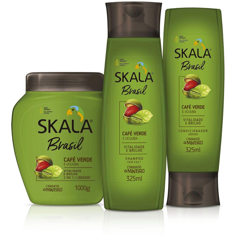 Kit Shampoo, Creme de Tratamento e Condicionador - Linha Café Verde e Ucuuba