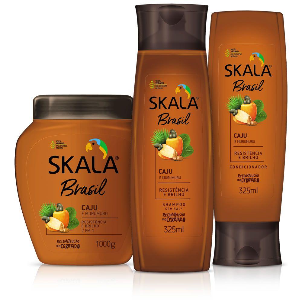 Kit Shampoo, Creme de Tratamento e Condicionador - Linha Caju e Murumuru