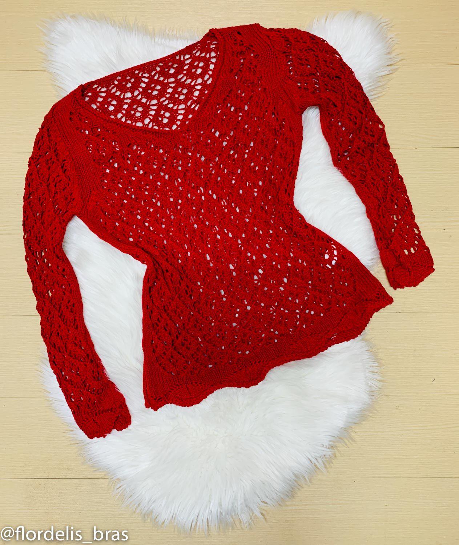 Blusa Feminina de Inverno em Tricô