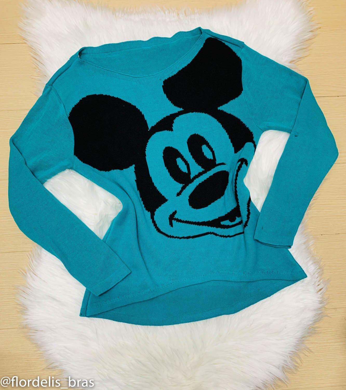 Blusa Feminina de Lã Mickey