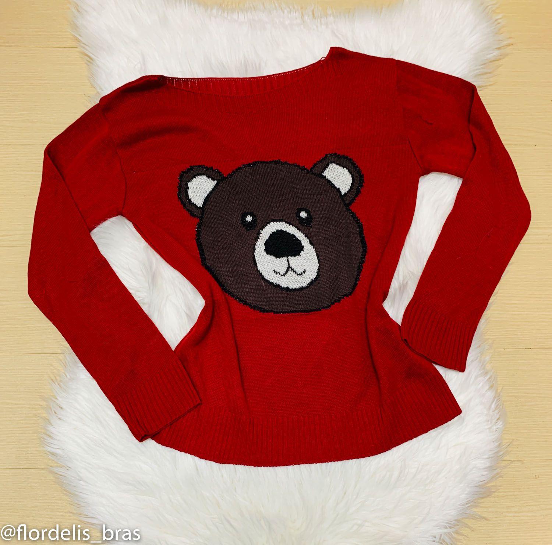 Blusa Feminina de Lã Urso Ted