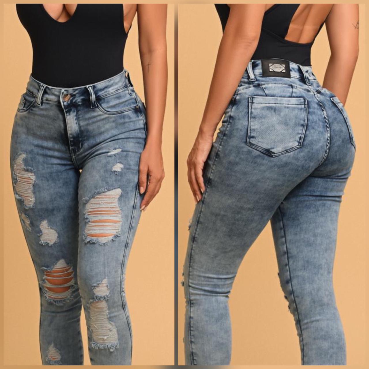 Calça Jeans Destroyed Super Modeladora