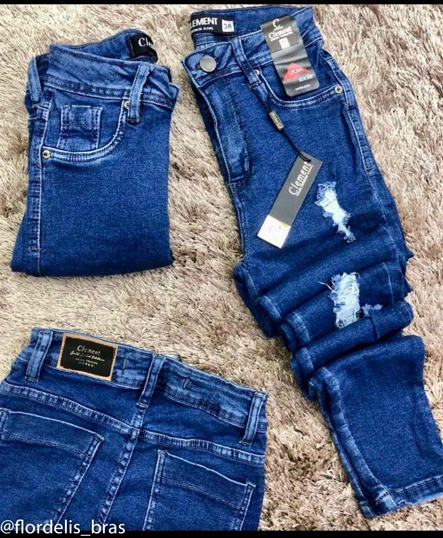 Calça Jeans Skinny Desfiada com Puídos