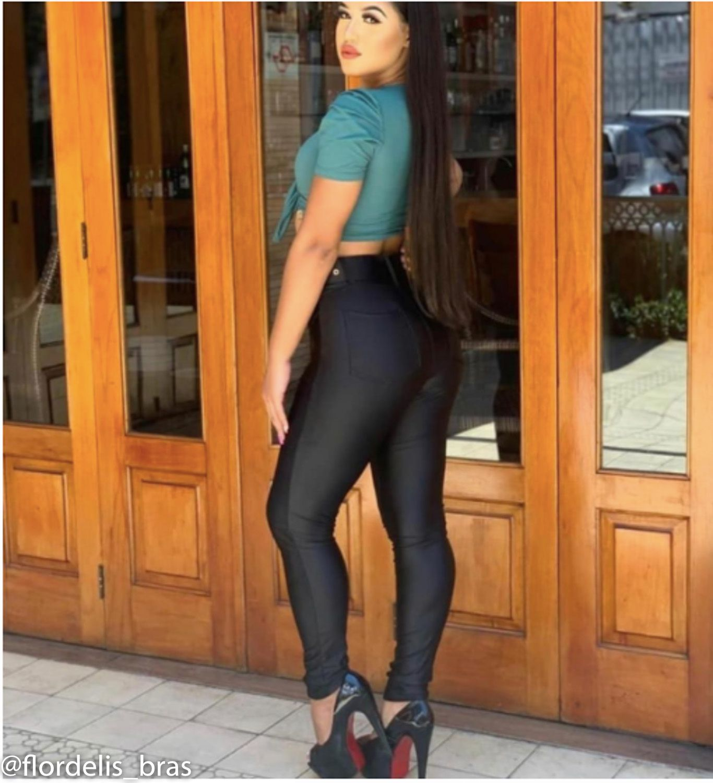 Calça Montaria Skinny com Cinto