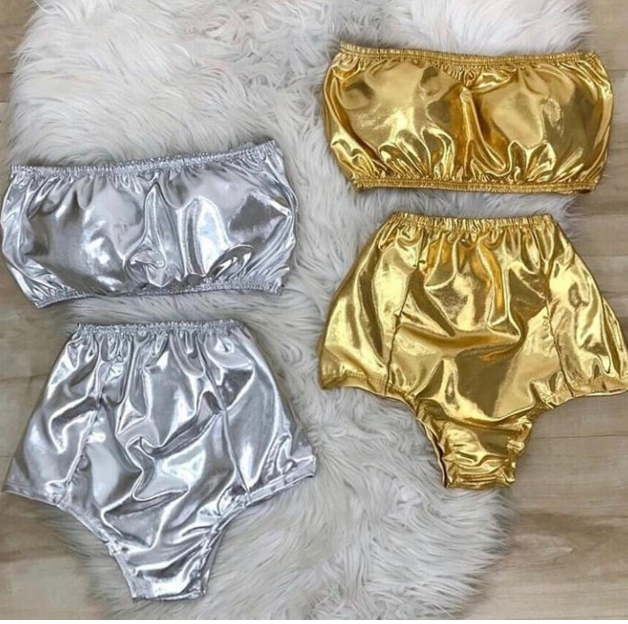 Conjunto Hot Pants Metalizado