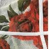 Branco com rosas vermelhas