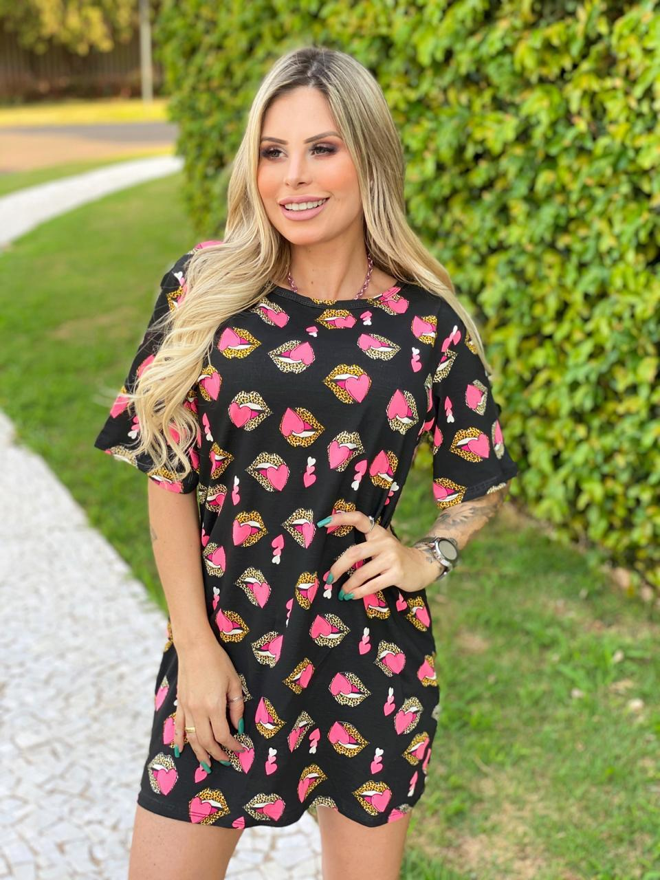 Vestido Camisetão Boquinha