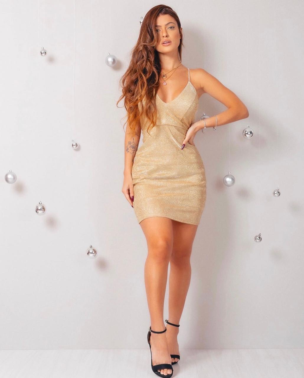Vestido Glamour Luxuoso