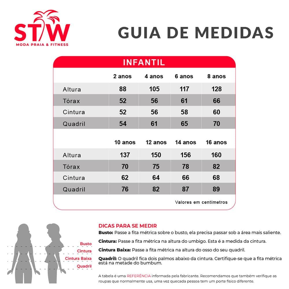 tabela de medidas infantil