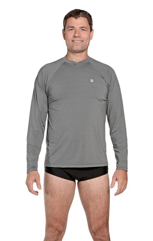 Camiseta Masculina Uv Praia Cinza