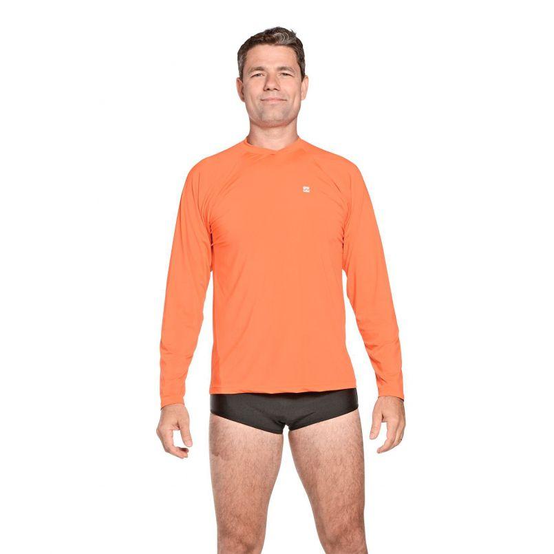 Camiseta Masculina Uv Praia Laranja