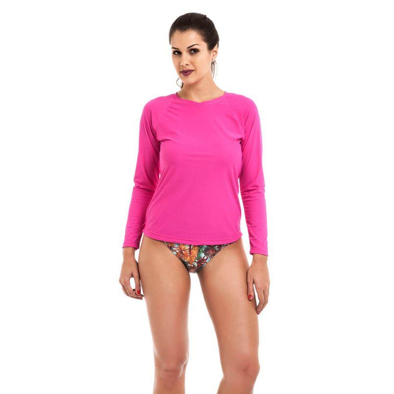 Camiseta Uv Praia Adulto Pink
