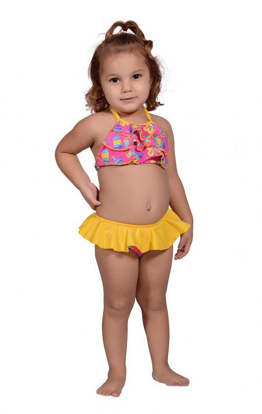 Conjunto Infantil Bia Sorvete Rosa